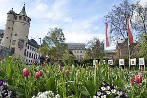 Speyer: Blick auf Historisches Museum (li.) und Kaiser-Dom (re.)